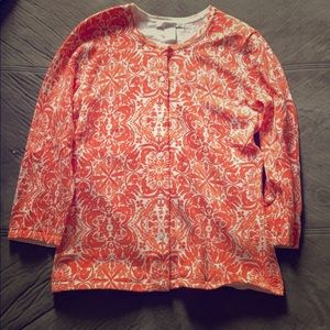 Orange button sweater!
